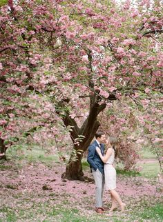 Photography: Rebecca Yale Photography - www.rebeccayalephotography.com  Read More: http://www.stylemepretty.com/2015/06/11/romantic-cherry-blossom-filled-engagement-session/