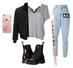 """""""Untitled #9"""" by gherasim-alicia on Polyvore featuring Acne Studios, Au Jour Le Jour, LE3NO and Dr. Martens"""