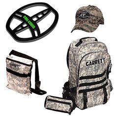 cool Garrett AT PRO Metal Detector Bonus Pack with Headphones, Backpack, Pouch, Hat and Searchcoil Cover
