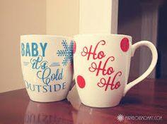 DIY Christmas mugs for her/him