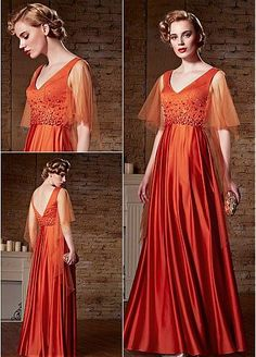 In Stock Gorgeous Malay & Densified Net V-Neck A-Line Prom Dresses