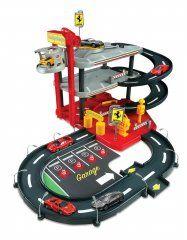 BBurago Ferrari Parking Garage + 4 autíčka