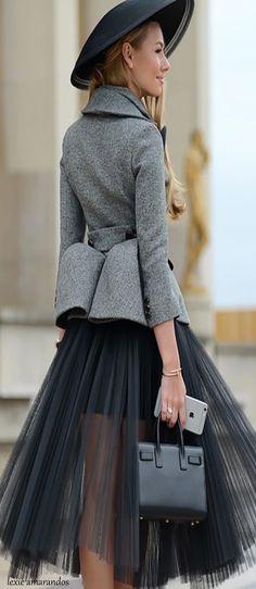 Dior #streetchic #balletfashion #tulleskirt