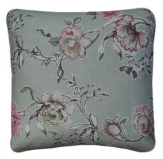 """Cushion Cover Made With Clarke & Clarke Clarisse Sage 14"""" 36 cm Scatter Green"""