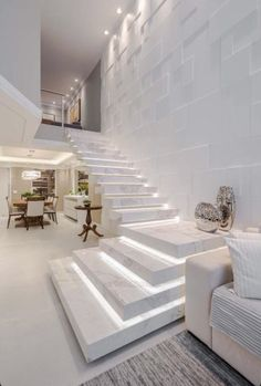 Home Stairs Design, Home Building Design, Home Room Design, Dream Home Design, Modern House Design, Home Interior Design, Modern Stairs Design, Modern House Facades, Interior Staircase