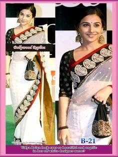 Blog - Vidya Balan Off - white Sari