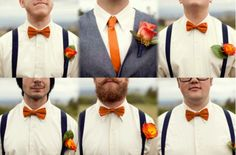 hipster wedding reception - groomsmen I don't like the colors, but I like the idea!