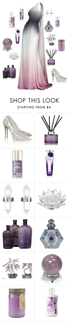 """""""Amethyst Dreams"""" by conquistadorofsorts ❤ liked on Polyvore featuring Alexander McQueen, Jo Malone, Lancôme, Amber Sceats, Maybelline, NOVICA, Paddywax, women's clothing, women's fashion and women"""
