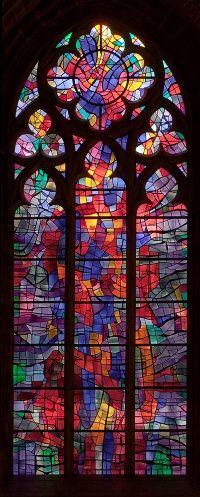 Alfred Manessier, 1966 « Weihnachtsfenster » - Östl. Stirnfenster im Nordschiff der U.L.Frauen-Kirche, Bremen - Foto: Roman Mensing