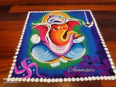 Simple Home Decor Rangoli Designs Latest, Simple Rangoli Designs Images, Rangoli Designs Flower, Rangoli Border Designs, Rangoli Ideas, Colorful Rangoli Designs, Rangoli Designs Diwali, Diwali Rangoli, Flower Rangoli