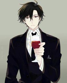Jumin Han, wine glass; Mystic Messenger