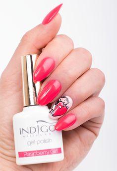 by Paulina Walaszczyk Indigo Educator :) Follow us on Pinterest. Find more inspiration at www.indigo-nails.com #nailart #nails #indigo #raspberry #heart #red