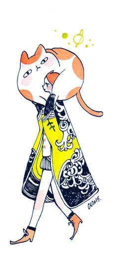 DEFINE: Where Is Today? — maruti-bitamin: Cats! Original painting update...