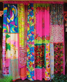 GYPSY CURTAINS!!!!!! Hot Pink and fabulous all over! I'm In Love.  #Boho#Hippie#Bohemian#Gypsy
