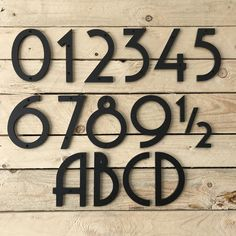 6 Inch Art Deco House Numbers Letters Etsy In 2020 Art Deco Home House Numbers Modern House Number