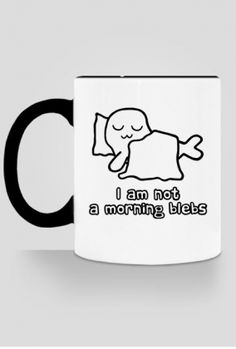 I am not a morning blebs. #coffee #mugs #sleep #seals #seal You can buy this coffee mug on cupsell, with the design on one side: https://whattheblebs.cupsell.com/product/2300663-product-2300663.html on the other side: https://whattheblebs.cupsell.com/product/2300671-product-2300671.html or on both sides: https://whattheblebs.cupsell.com/product/2300667-product-2300667.html And here you can find other merchandise with the same design…