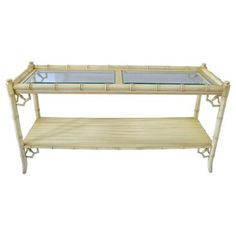 Check out this item at One Kings Lane! Faux-Bamboo Console Table