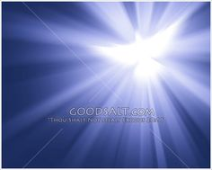 Abstract background of the dove of the Holy Spirit with purple light rays.