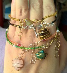 Natural gemstones charms