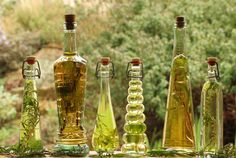 Flavored cooking oils with herbs.   I have these bottles but I need to find stuff to put in them!