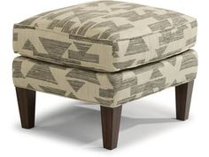 Aces tall, tapered legs and luxury cushion make it an appealing ottoman. Pair it with the Ace chair for the perfect combination. Fabric Ottoman, Chair Fabric, Luxury Cushions, Ottoman In Living Room, Ottoman Empire, Home Office, Sofas, Wood, House Decorations