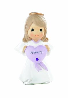 Precious Moments- February Birthday Angel - http://www.preciousmomentsfigurines.org/faith/precious-moments-february-birthday-angel/
