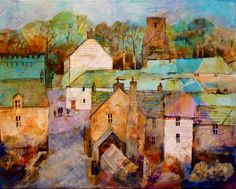 Blanchland Village, Collage / mixed media by Malcolm Coils | Artfinder