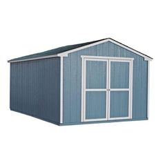 Handy Home Products Cumberland 10 ft. x 16 ft. Wood Shed Kit with Floor Frame-18365-2 - The Home Depot