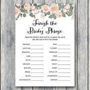 th03 Finish the Bride's phrase game, Complete the phrase