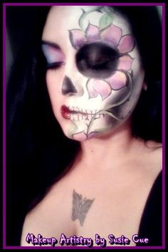 Simple Day of the Dead , Dia de los Muertos makeup  **All images copyrighted not to be used without art permission for any reason** https://www.facebook.com/MakeupforMyVividDream