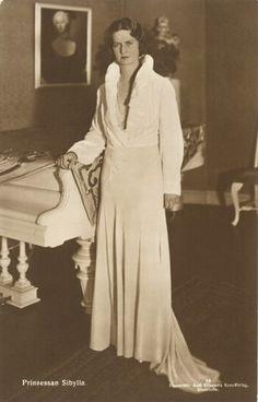 Princesse Sibylle de Saxe-Cobourg-Gotha, épouse du prince Gustav Adolph de Suède
