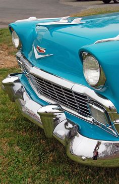 Chevrolet Bel Air, gorgeous paint job in teal