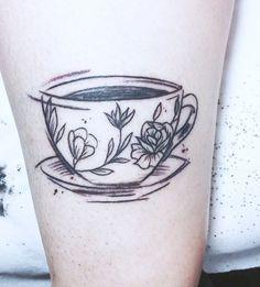 "Gefällt 29 Mal, 2 Kommentare - Verena Pfauth (@strandedghost) auf Instagram: ""Monday morning coffee break ☕️ #coffee #tattoo #sketchytattoo #krixikraxi #vienna #sou"