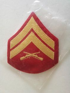 US Marine Corps - Corporal Gold On Scarlet Men- 1 pair - NEW Free Shipping in US