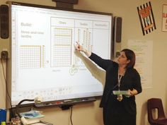 Math Coach's Corner: Decimal Place Value and the Connection to Fractions. Concrete and pictorial models help students make sense of decimals and fractions. This post include a free activity using QR codes and a SMART board file (seen in the picture). Place Value With Decimals, Math Place Value, Place Values, Math Coach, Math Writing, Fifth Grade Math, Math Fractions, Maths, Math Intervention