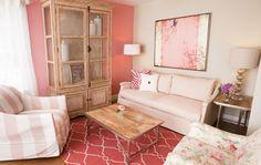 Decorar el salón en rosa palo - http://www.decoluxe.net/decorar-el-salon-en-rosa-palo/