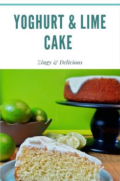 A light spongy cake with a refreshing zingy yoghurt topping. This cake is simple and straightforward as it's only one layer and the topping is a simple yoghurt and lime mixture that is no more strenuous than mixing a few ingredients together. #yoghurt #cake #lime #foodiehub #foodie #recipes Lime Cake, Few Ingredients, Bread, Breakfast, Sweet, Recipes, Food, Key Lime Pound Cake, Morning Coffee