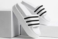 Today's Crush: adidas Originals Adds Height To It's Adilette Slides - MISSBISH | Women's...