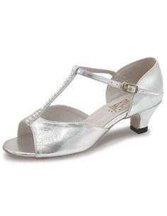 029f8783e8 Lara Ballroom/Latin Shoes with coag upper and diamante adjustable t-bar  strap.