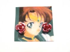 Sailor Moon Earrings Rose Jewelry Cosplay Jupiter Anime Lita TV Show Collectible | eBay