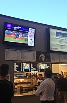We revamped McCoy Stadium's concession stands with Digital Signage that displays live feed of the baseball game, live standings and advertisements of their events & specials! #INNOVEX #McCoyStadium #DigitalSignage