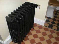 Etonian 6 column electric. Let´s Recoupage old cast iron radiators.