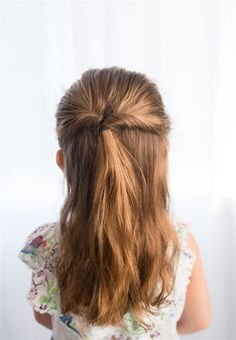 Half braided up-do for kids