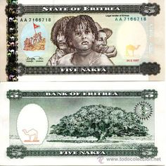 ERITREA - 5 NAKFA,1997. #Nakfa currency was named after the start place of #Eritrea revolution for independence and first liberated in 1977