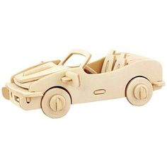 Car 3D Wooden Jigsaw Puzzle Child Educational Miniature Model Toy