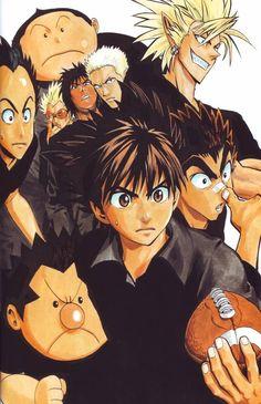 Tags: Anime, Eyeshield 21, Hiruma Yoichi, Raimon Taro, Shozo Togano, Koji Kuroki, Kazuki Jumonji