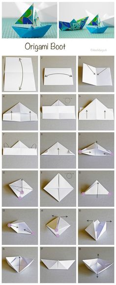 My first origami! We folded hundreds of these back when i was at daycare 🙂 Rp: How to fold Origami Boat, www.ch My first origami! We folded hundreds of these back when i was at daycare 🙂 Rp: How to fold Origami Boat, www. Origami Boot, Instruções Origami, Origami Stars, Origami Sailboat, Paper Boat Origami, Origami Tattoo, Origami Butterfly, Origami Folding, Diy Paper
