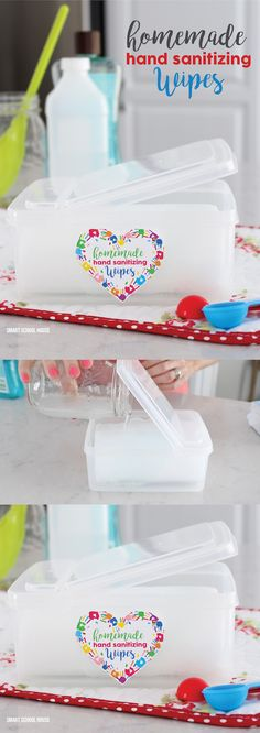 2 ingredient DIY Homemade Hand Sanitizing Wipes Tutorial. Use them over and over…