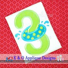 Inner Tube Birthday 3 Applique Design