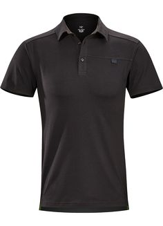 5c7e7e9ed Captive Polo SS Mens Trim-fitting, short-sleeved polo shirt made from  lightweight, moisture-wicking Cotton/Synthetic blend textile with Lycra.